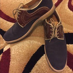 Johnston & Murphy Blue suede shoes